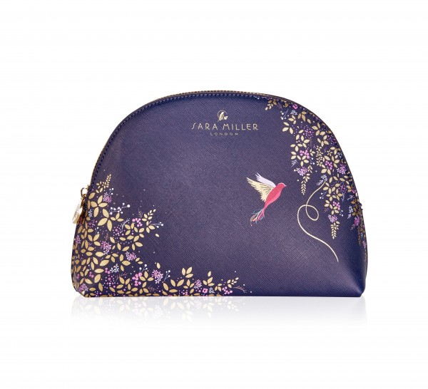 Medium Cosmetic Bag, Sara Miller-navy