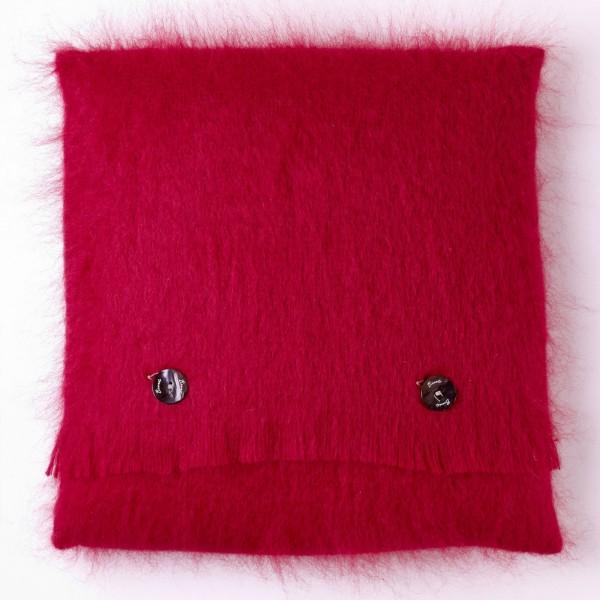 Mohair-Kissen, Berry Red 40 x 40 cm