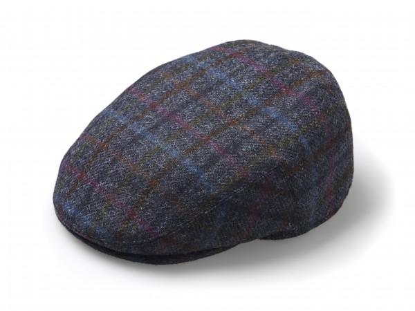 FLAT CAP, Hat - Multicheck Navy