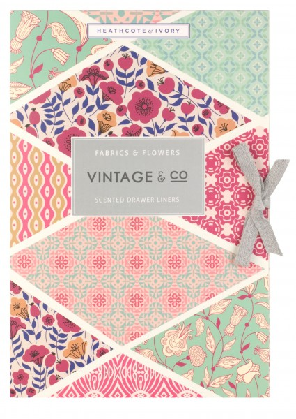 VINTAGE FABRIC & FLOWERS, 6 Scented Drawer Liners