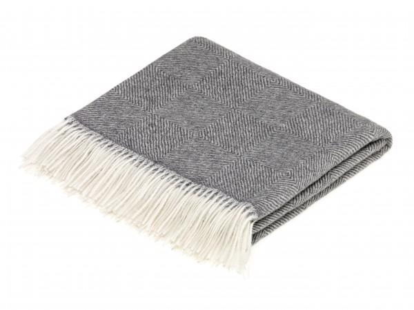 Alpaca-Decke, Herringbone - Natural Grey 130 x 200 cm