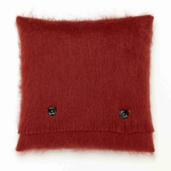 Mohair-Kissen, Lacqueur Red 40 x 40 cm