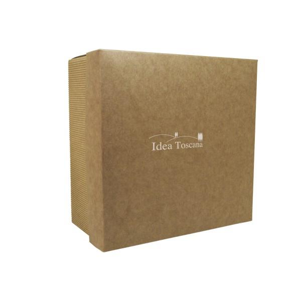 PROMO MATERIAL, Medium gift box empty, square, écru
