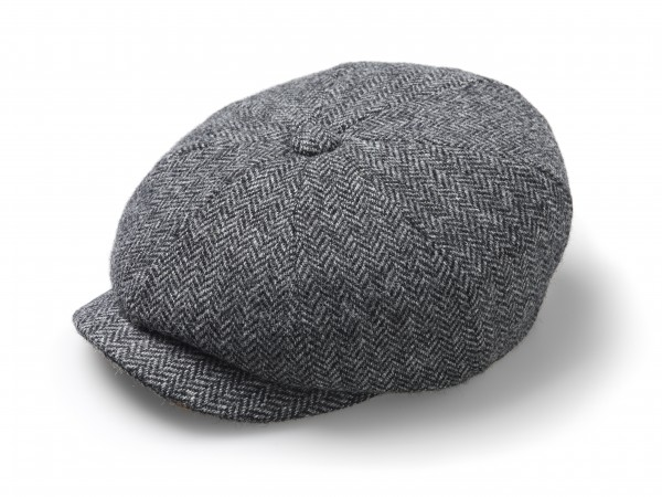 BAKER BOY, Hat - Herringbone Mid Grey