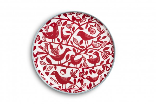 Melamine Plate 23cm, DOVES RED