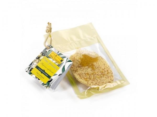 PRIMA SPREMITURA, Face scrub pad with olive pits