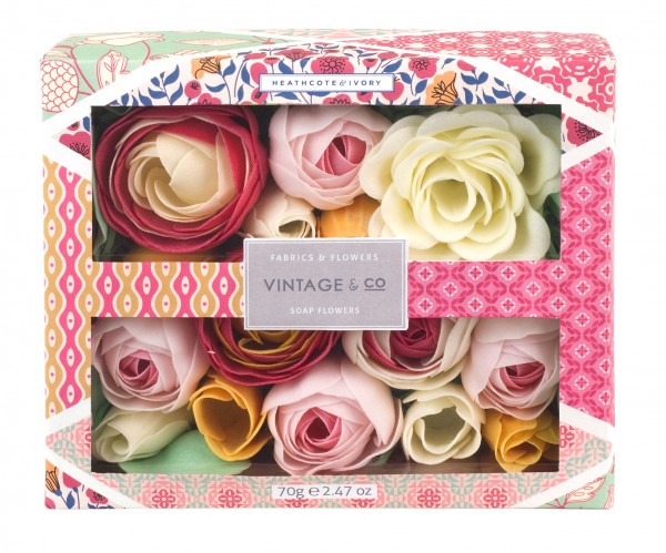 VINTAGE FABRIC & FLOWERS, Soap Flowers