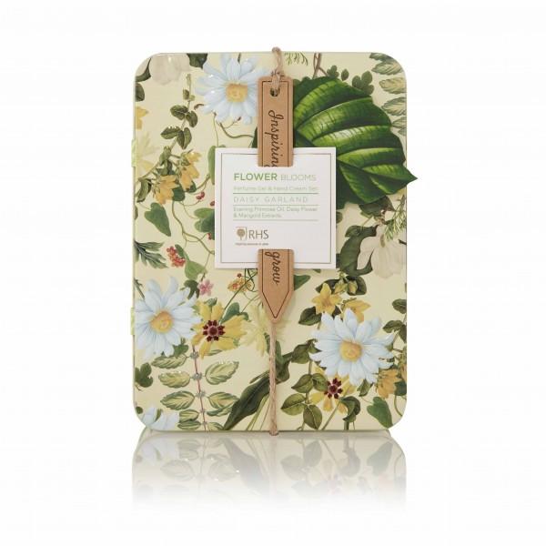 Perfume Gel Rollerbal & Hand Cream Set, RHS Daisy Garland -ausverkauft-