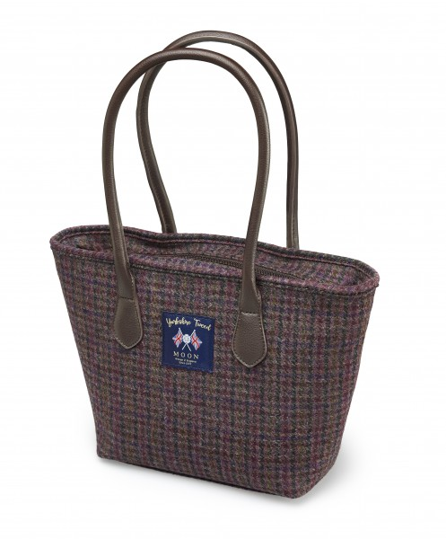 TOTE BAG - Burgundy Dogstooth