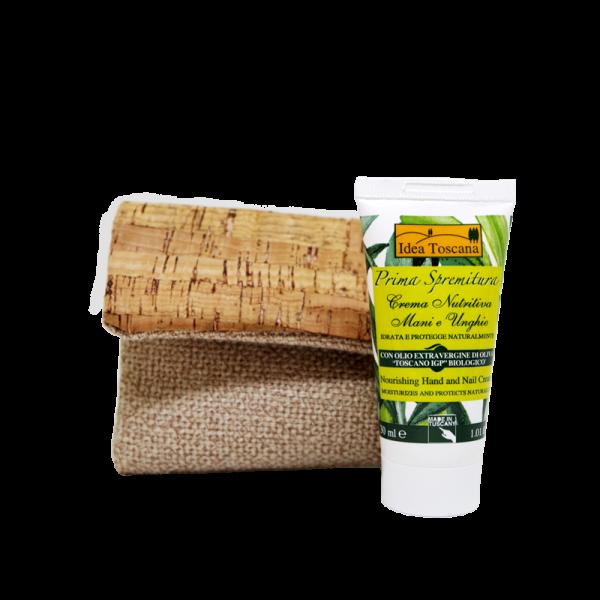 Mini pouchette with hand cream