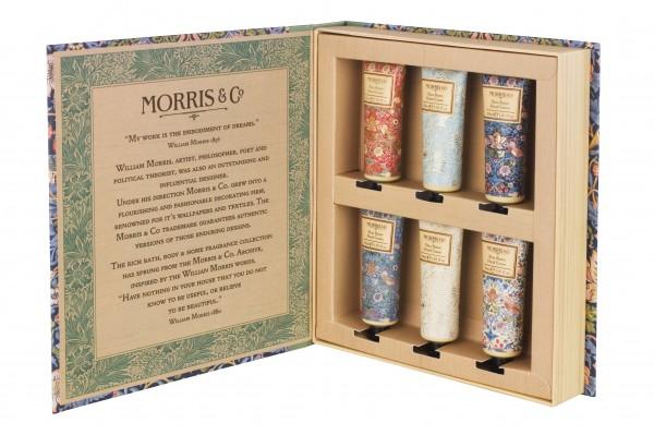 Hand Cream Library Set 6 x 30ml, Morris & Co. Strawberry Thief