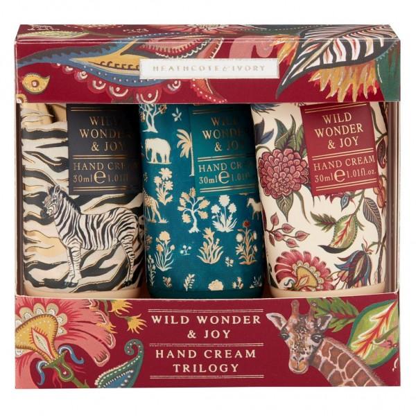 WILD WONDER & JOY, Hand Cream Triologie 3x30ml