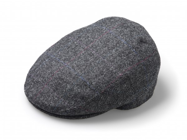FLAT CAP, Hat - Windowpane grey
