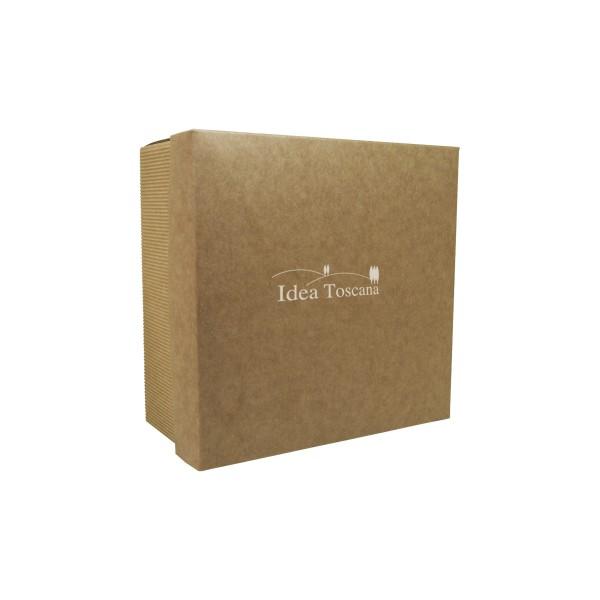 PROMO MATERIAL, Small gift box empty, square,écru