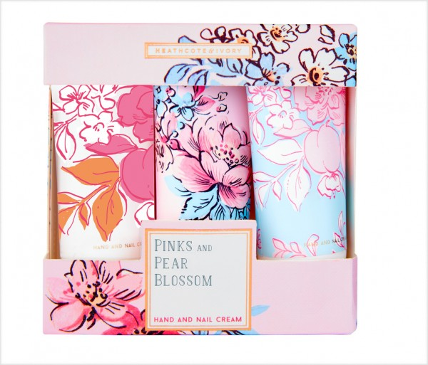 PINKS & PEAR BLOSSOM, Hand & Nail Cream Collection (3 x 30ml)
