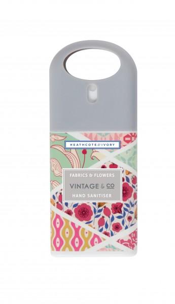 Hand Sanitiser 20ml, Vintage Fabric & Flowers