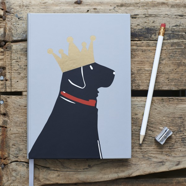 Hardback Notebook, Black Labrador