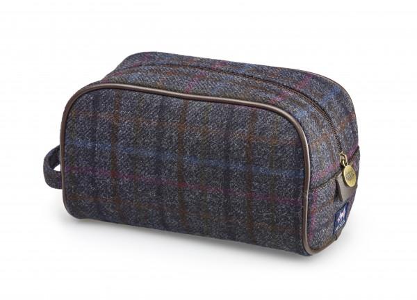 Wash Bag - Grey Check