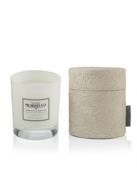 Candle/Duftkerze 180g Morris & Co. Tuberose & Honeysuckle (grey) -z.Zt.ausverkauft-