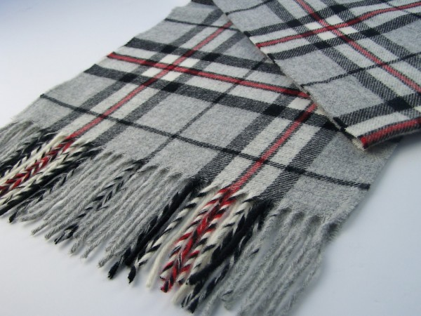 Merino-Decke - TARTAN Grey Thompson, 140 x 185 cm