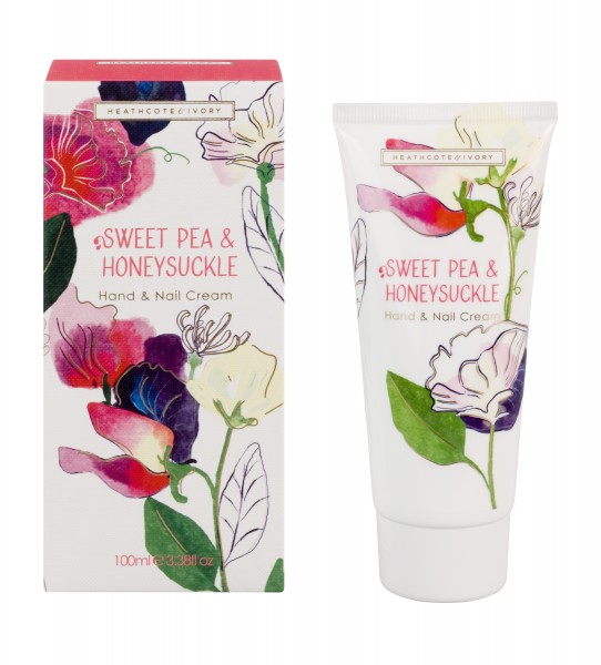 Hand & Nail Cream 100ml, Sweet Pea & Honeysuckle