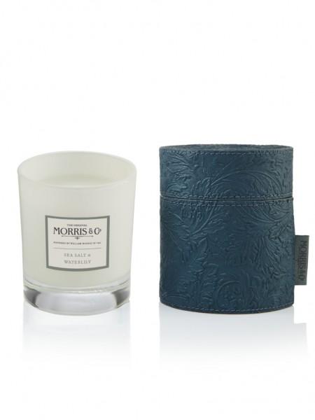 Candle/Duftkerze 180g Morris & Co. Sea Salt & Waterlily (teal) -z.Zt.ausverkauft-