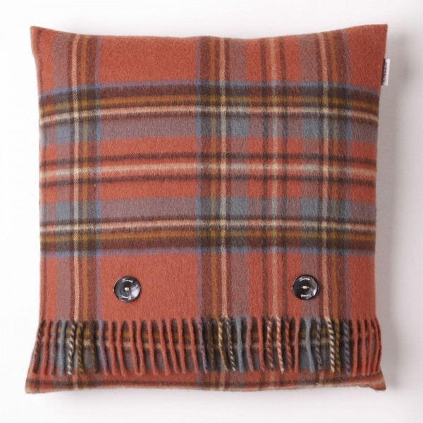 Merino-Kissen - TARTAN Antique Royal Stewart, 40 x 40 cm