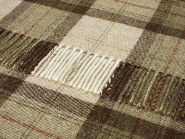 Shetland-Decke - Sky Check Sage, 140 x 185 cm