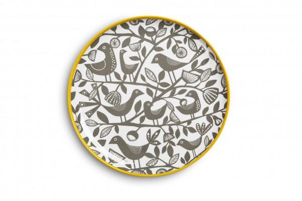 Melamine Plate 23cm, DOVES GREY