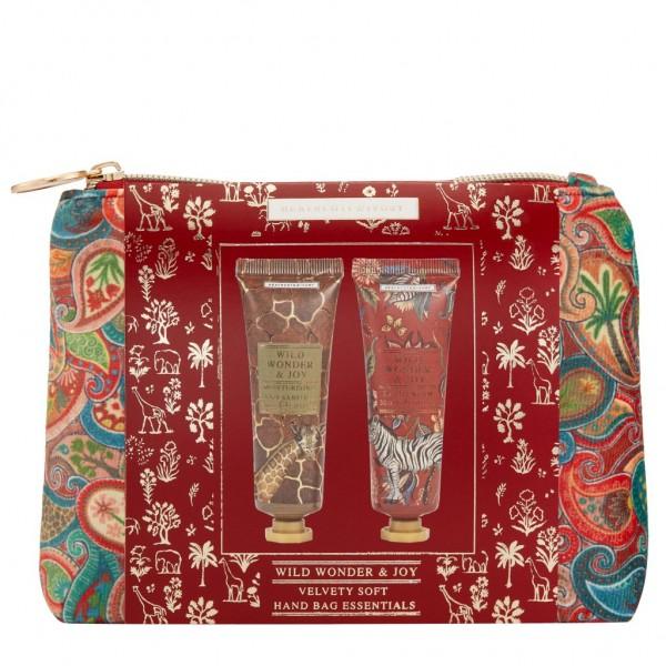 WILD WONDER & JOY; Velvet Soft Handbag Essentials, gefüllt