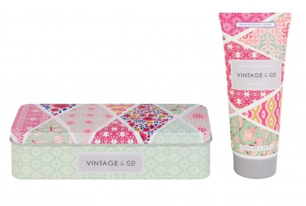 Hand Cream in Tin 100ml ,Vintage Fabric & Flowers