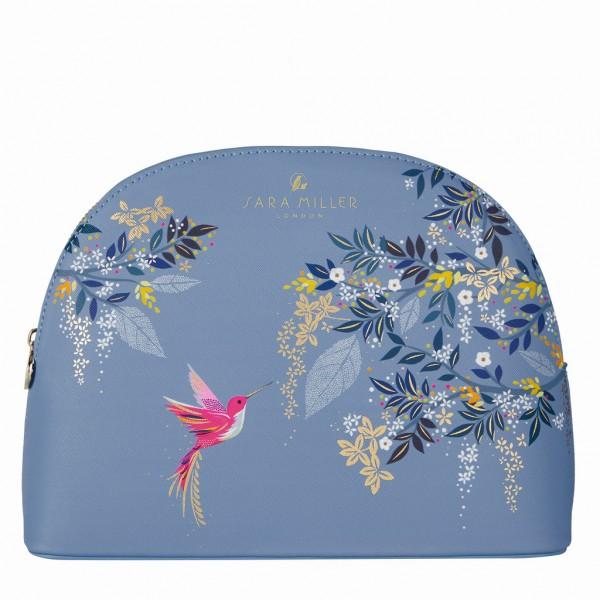 SARA MILLER, Large Cosmetic Bag (Blue)