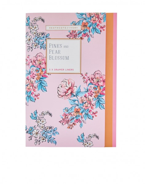 PINKS & PEAR BLOSSOM, Fragranced Drawer Liners (5 sheets)