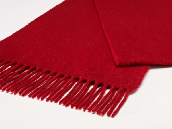 Merino-Scarf-Schal 25 x 190cm PLAIN Scarlet