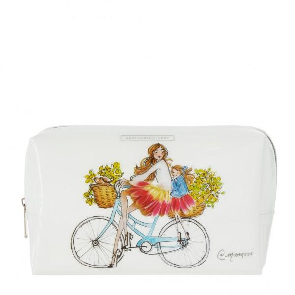 MEREDITH WING, Large Cosmetic Bag - Sunday Bike Rides