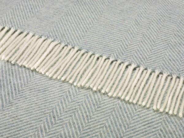 Shetland-Decke - Herringbone Aqua, 140 x 185 cm