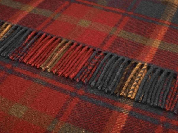 Kniedecke - Tartan Knee Rugs, Dark Maple, 140 x 90 cm