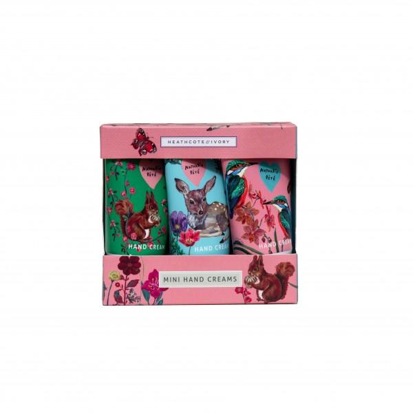 Mini Hand Creams 3 x 30ml, Vintage EMPORIUM Natalie Lete, Forest Folk