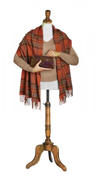 Merino-Tartan-Stoles 50 x 185cm, Antique Royal Stewart