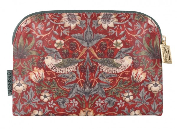 Small Cosmetic Bag, Morris & Co. Strawberry Thief