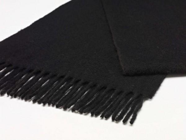 Merino-Scarf-Schal 25 x 190cm PLAIN Black