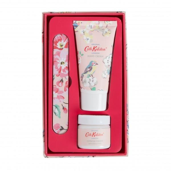 Manicure Set, Blossom Birds-White Clover & Matcha Tea