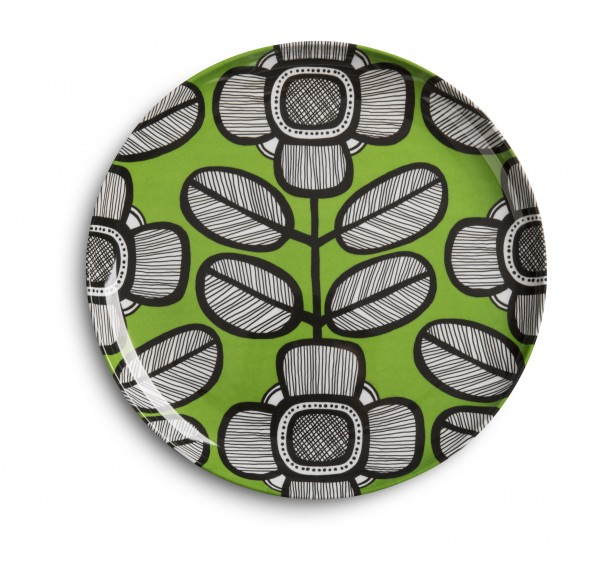 Melamine Plate 23cm, TRIBAL LEAF GREEN