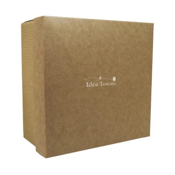 PROMO MATERIAL, Big gift box empty, square, écru
