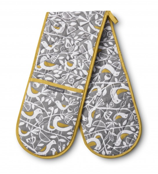 DOUBLE OVEN GLOVE, Doves Grey
