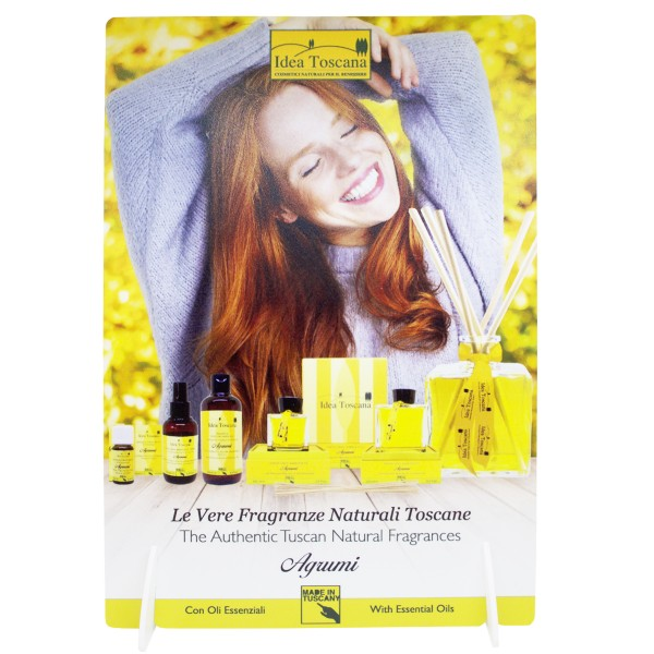 PROMO MATERIAL, Counter Display A4 Room Fragrance - citrus fruits