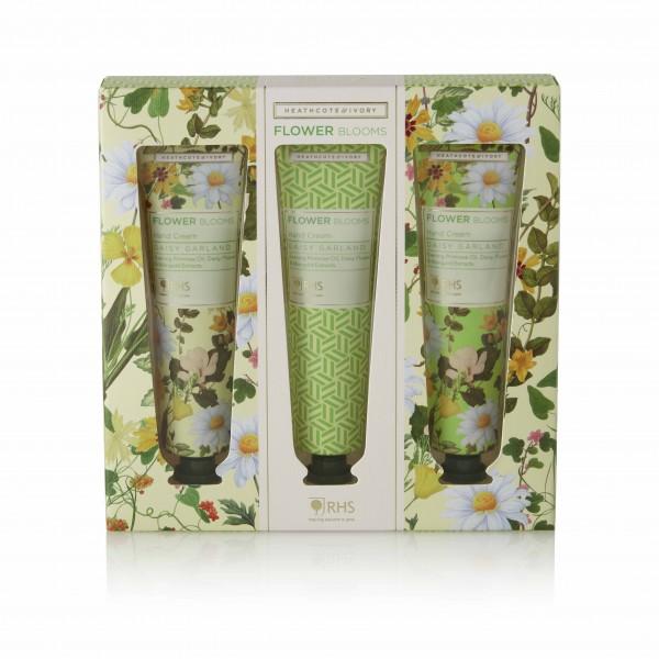 Hand Creams 3x30ml, RHS Daisy Garland