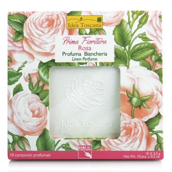PRIMA FIORITURA-ROSE, Linen Perfume,rose 10 cards