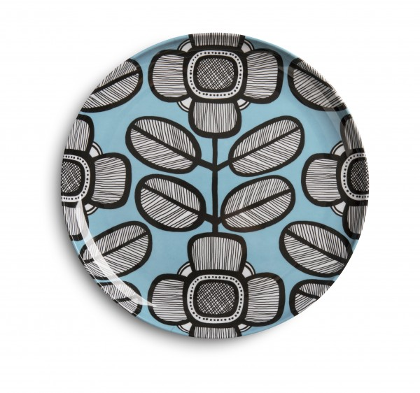 Melamine Plate 23cm, TRIBAL LEAF BLUE