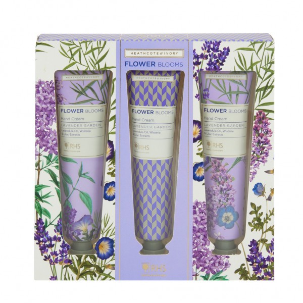 RHS LAVENDER GARDEN, Three Hand Creams 3x30ml
